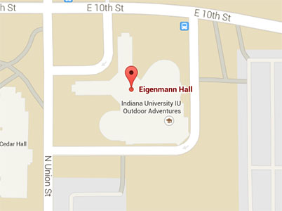 map indicating BEST's location in Eigenmann Hall.